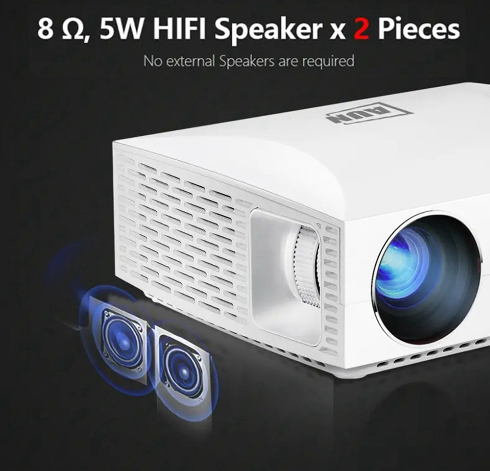 AUN F30 Native 1080P LED Projector 6500 Lumens 3D Home Theater 5.8 Inch LCD Supports 4K SPDIF HDMI USB 2*10W Speakers