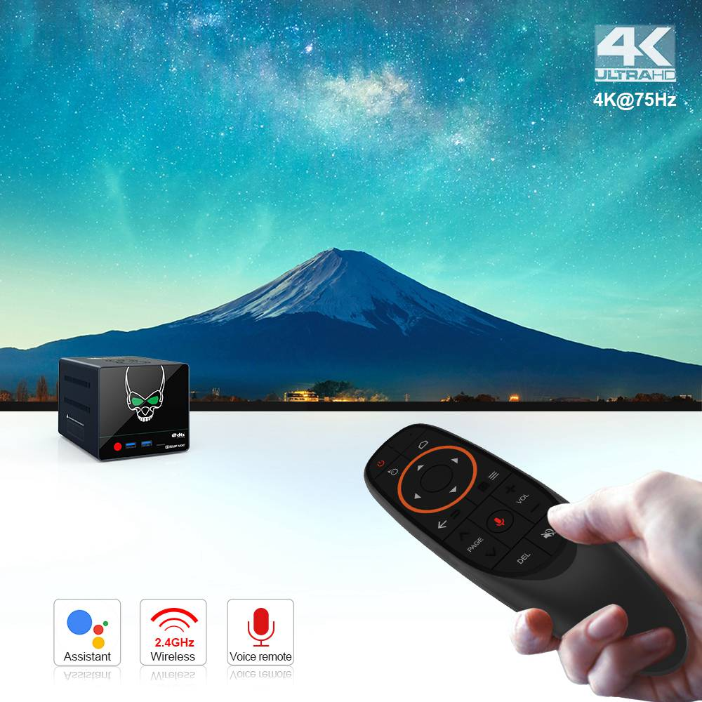Beelink GS-King X S922X-H 4GB DDR4/64GB eMMC 4K 60fps TV Box Supports 2*3.5 inch HDD NASdolby DTS Android 9.9 2.4G+5.8G WIFI Gigabit LAN