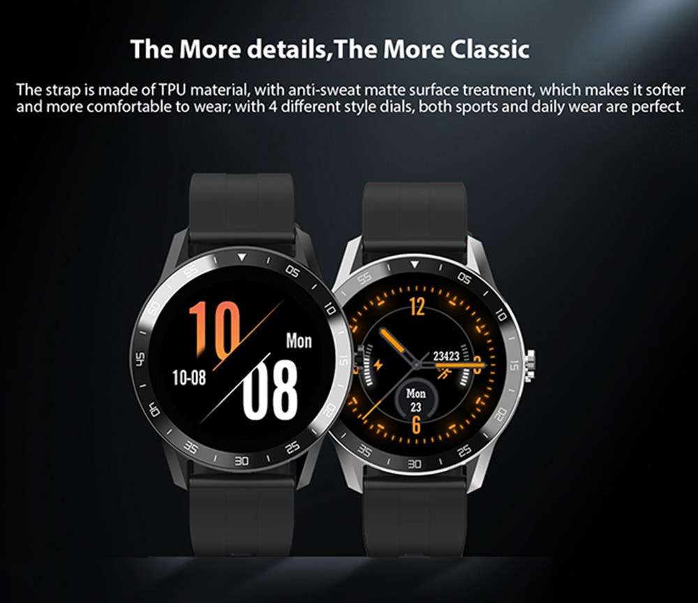 Blackview X1 Smart Watch 5ATM Waterproof Heart Rate Monitor Multi-sports Modes