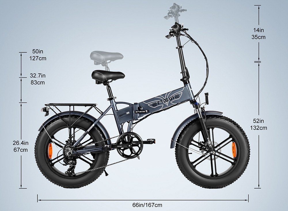"ENGWE Electric Bike CST 20""*4.0"" Mopped E-Bike"