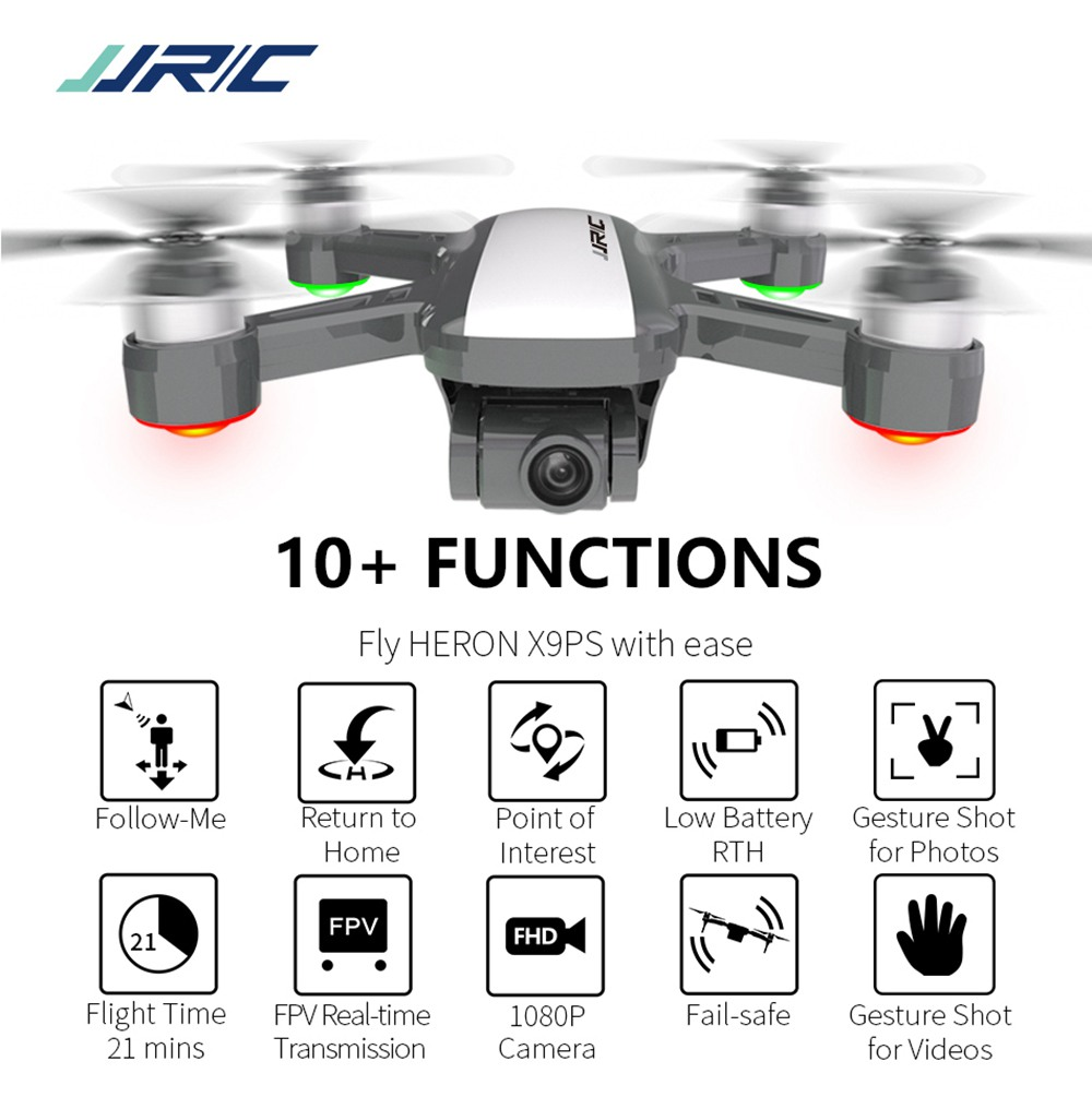 JJRC X9PS 4K 5G WIFI FPV Dual GPS RC Drone With 2-Axis Gimbal RTF - White Three Batteries with Bag