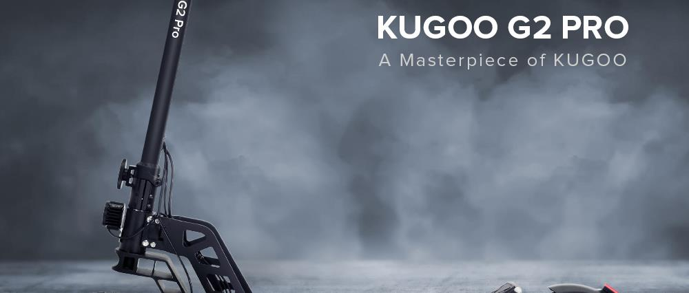 "KUGOO G2 Pro Scooter électrique pliant moteur sans balais 500W Vitesse maximale 50 km / h Max 50 km Rang 13AH Batterie 10 ""Pneumatique HD LCD Display Dual Disc Brake Led Light - Noir"