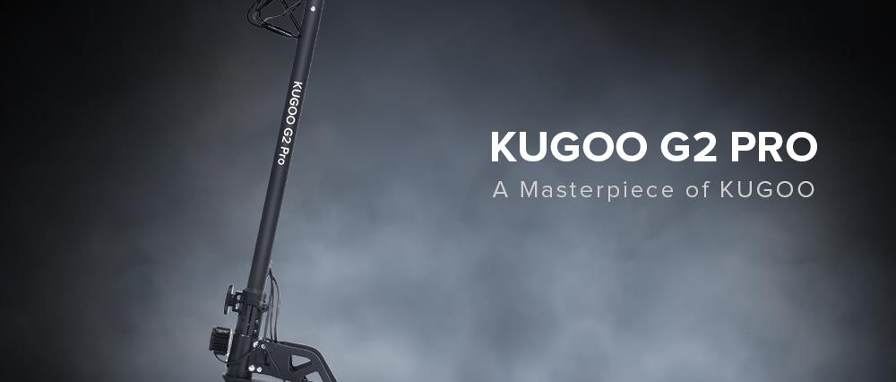 "KUGOO G2 Pro Folding Electric Scooter Brushless 800W Motor Max Speed 50km/h Max 50km Rang 13AH Battery 10"" Pneumatic Tire HD LCD Display Dual Disc Brake Led Light - Black"