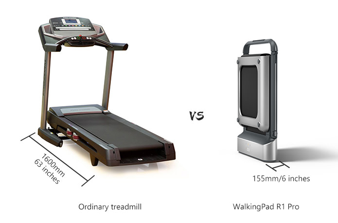 WalkingPad R1 Pro Treadmill APP Control 2 in 1 Smart Folding Walking and Running Machine For Outdoor and Indoor Fitness Exercise International Version - Silver