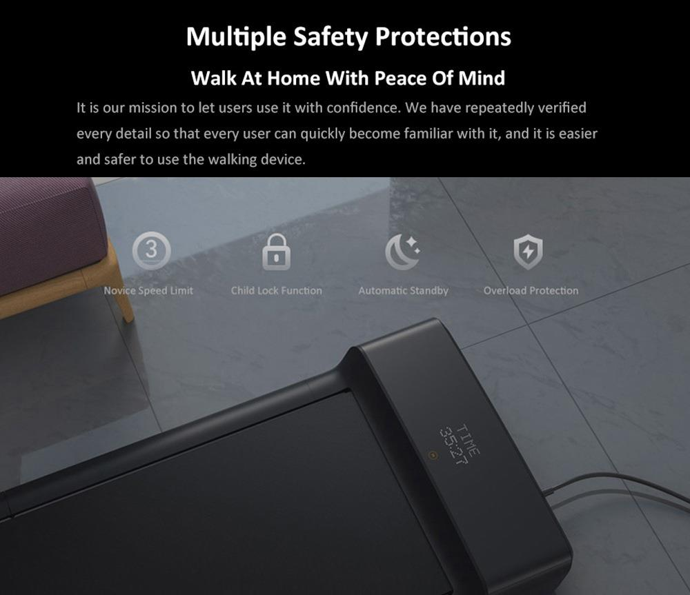 Xiaomi WalkingPad A1 Pro Fitness Walking Machine Foldable Treadmill Electric Gym Equipment LED Display Smart APP Control 2 Sport Modes 100kg Load Capacity- Black