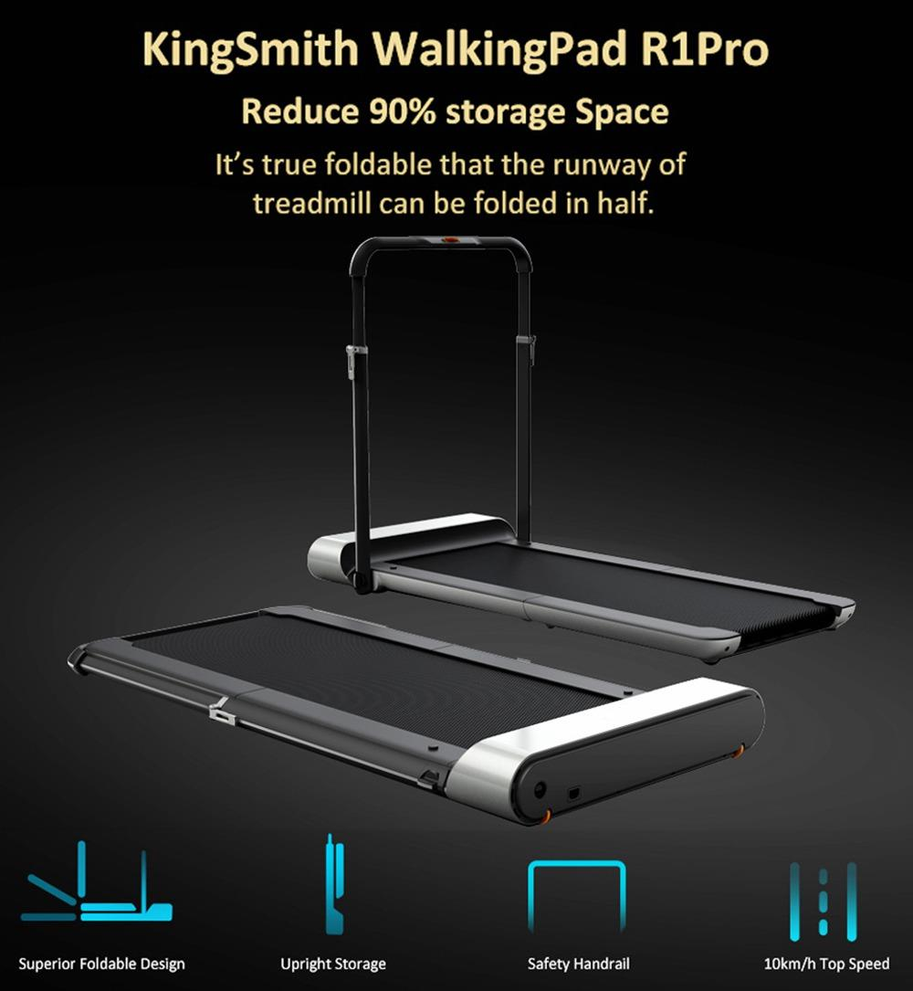 WalkingPad R1 Pro Treadmill 2 in 1 Smart Folding Walking and Running Machine APP Foot Step Sped Control Outdoor Indoor Fitness Exercise Gym Alternative International Version From Xiaomi Ecosystem - Silver