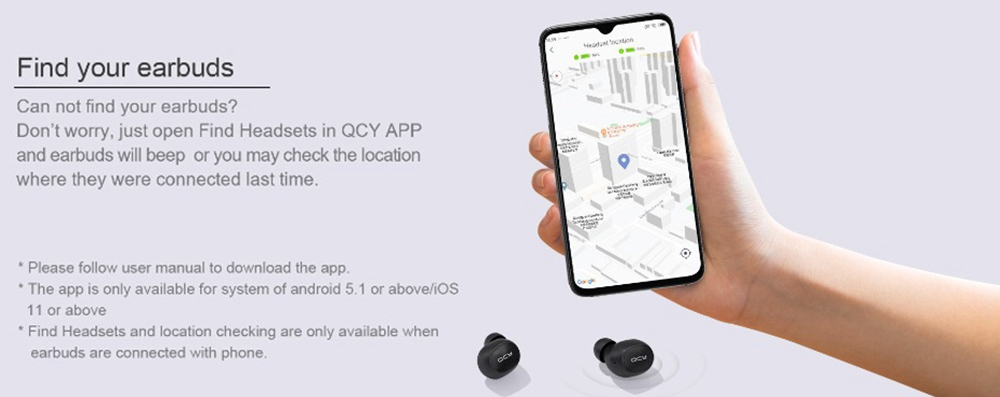 [International Edition] QCY M10 Bluetooth 5.0 TWS Earphones Game Mode AAC/SBC DSP Noise Cancelling HIFI Stereo Surround Sound AAC/SBC Pop-up Pairing 20H Battery Life App Control - Black