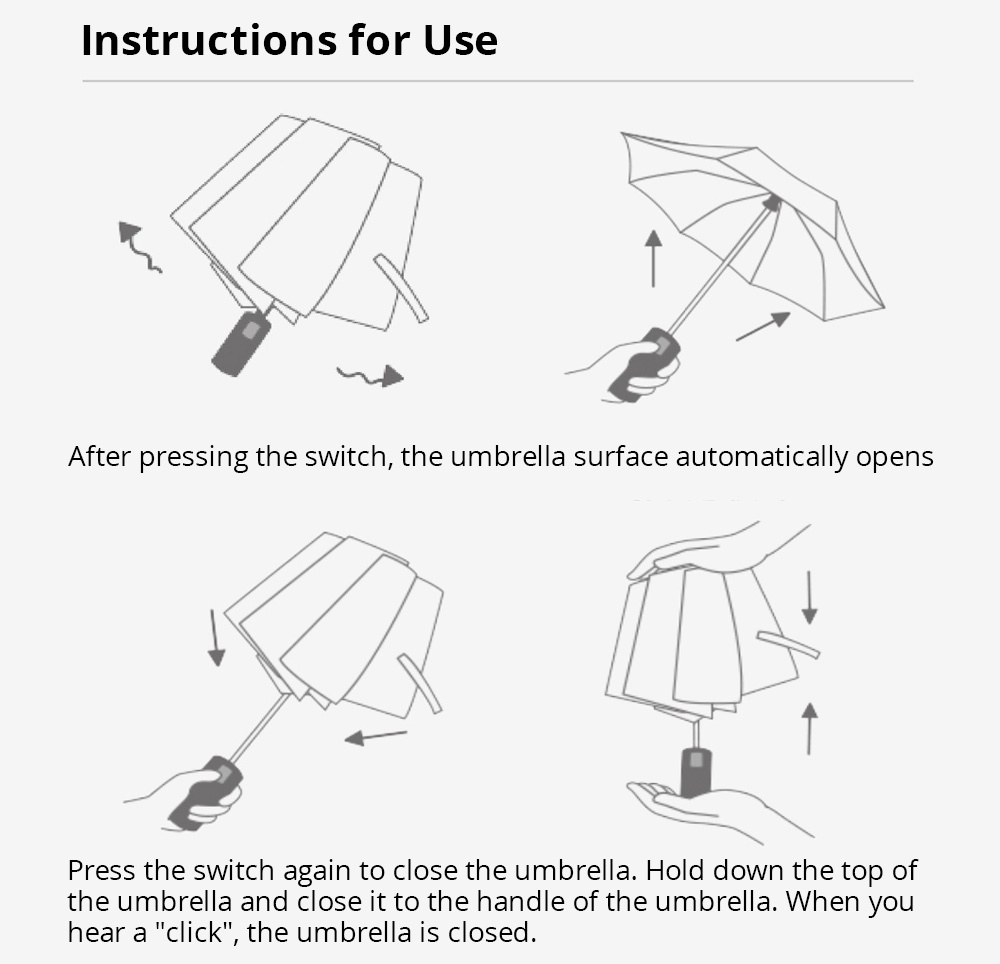 90FUN Portable Fully Automatic Reverse Folding Lighting Umbrella Anti-UV UPF50+ Windproof Wind Resistant Umbrella Three Folding  from Xiaomi Youpin - Gray