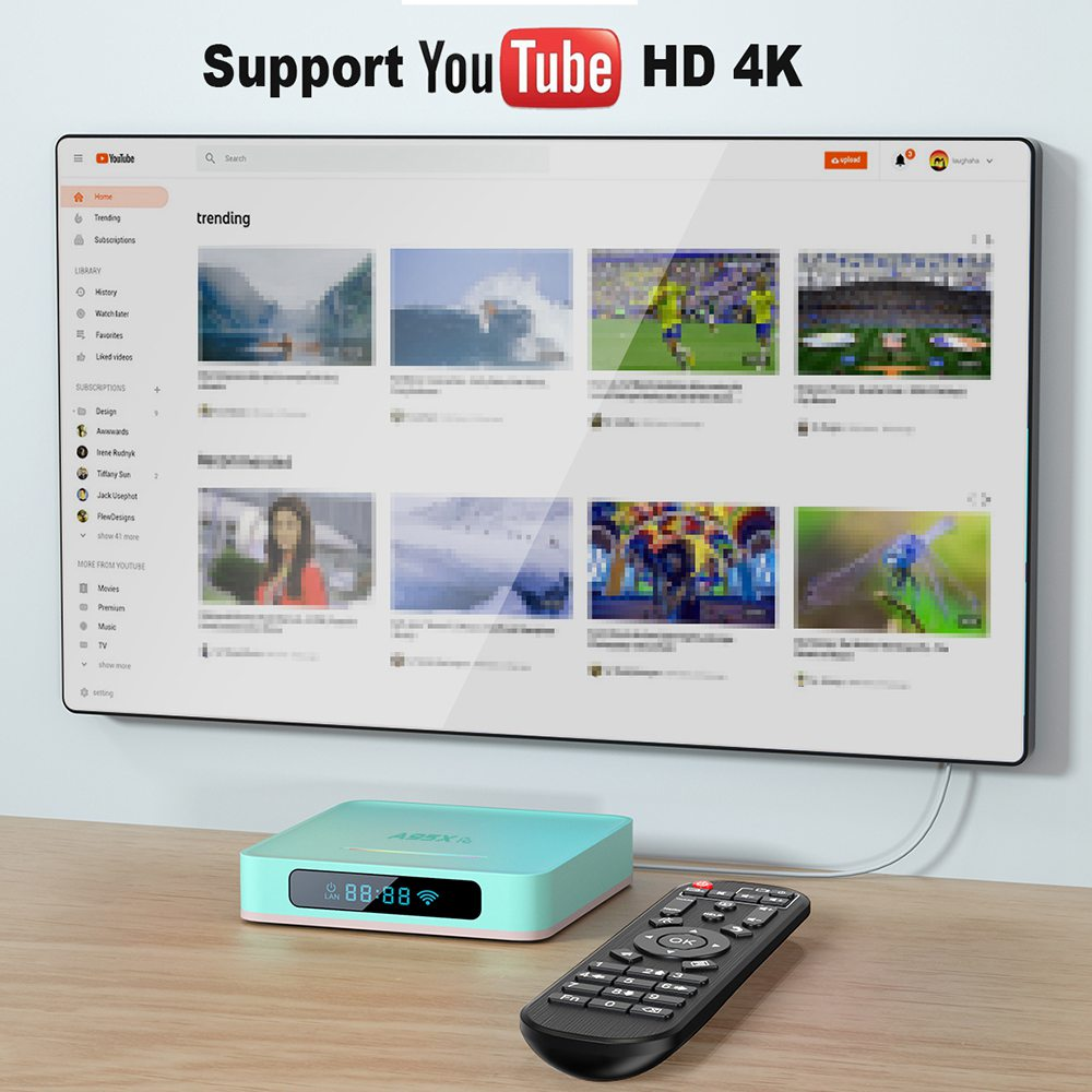 A95X R5 Android 10.0 RK3318 2GB/16GB 4K TV BOX 2.4G/5G WIFI 100M LAN Bluetooth USB3.0