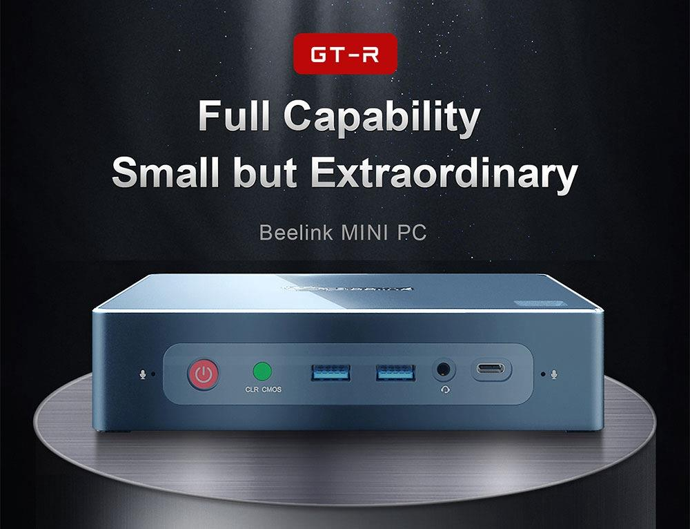 Beelink GT-R MINI PC 16GB DDR4 512GB SSD 1TB HDD AMD Ryzen5 3550H Radeon Vega 8 Graphics HDMI*2 DP RJ45*2 Type-C