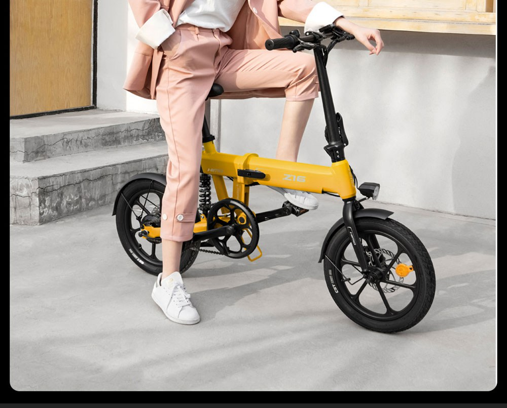 Bicicletta elettrica pieghevole HIMO Z16 Motore da 250 W fino a 80 km Velocità massima 25 km / h Batteria rimovibile IPX7 Impermeabile Smart Display Doppio freno a disco Versione globale - Blu