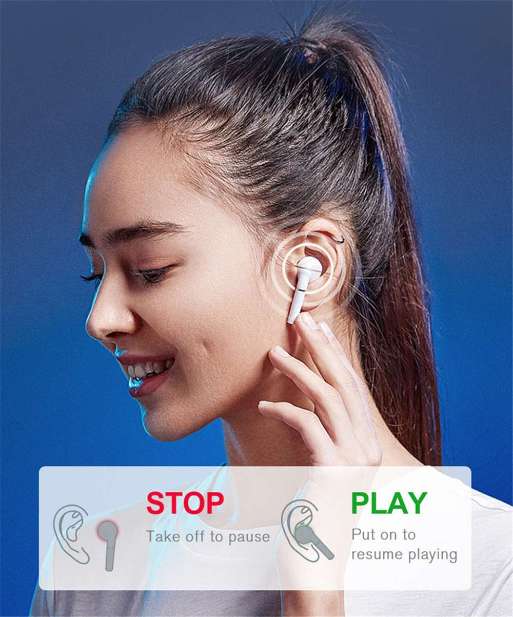 Haylou T19 TWS Qualcomm 3020 Bluetooth 5.0 TWS Earphones aptX AAC Pop Up Pairing APP Control Noise Canceling Wireless Charging In-ear Detection