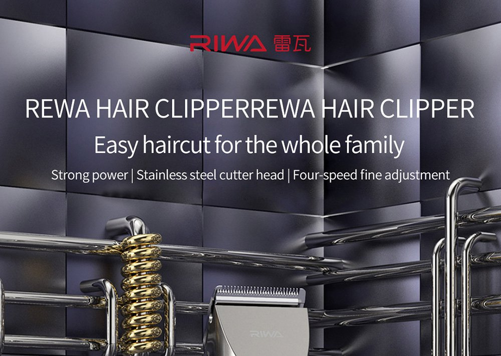RIWA Washable Hair Trimmer LED Display Rechargeable Electric Hair Cutterx Hair Clipper Machine For Haircuts Hair RE-6305