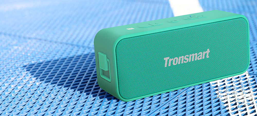 Tronsmart T2 Plus 20W Bluetooth 5.0 Speaker 24H Playtime IPX7 Waterproof  Soundbar with TWS,Siri,Micro SD - Light Green