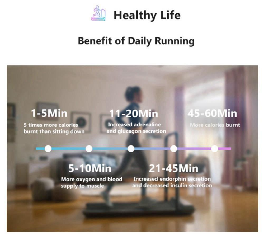 WalkingPad R1 Pro Treadmill APP Control 2 in 1 Smart Folding Walking and Running Machine For Outdoor and Indoor Fitness Exercise - Silver