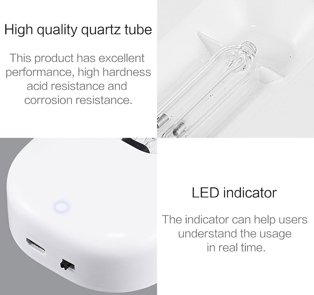 Xiaoda Smart Ultraviolet Sterilization Deodorizer Intelligent UV Germicidal Lamp from Xiaomi youpin - White