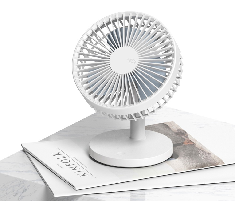 Xiaomi Youpin SOTHING Desktop Fan Silent Rainforest Version Super Wind Mute Removable USB Rechargable Mini Fan Cooler For Office Smart Home