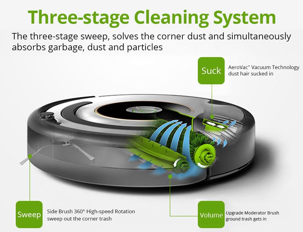 iRobot Roomba 529 Intelligent Robot Vacuum Cleaner 1200PA Strong Suction 3000mah Battery Capacity 32CM Climb Capability 600ml Dust Box Capacity Low Noise - Green