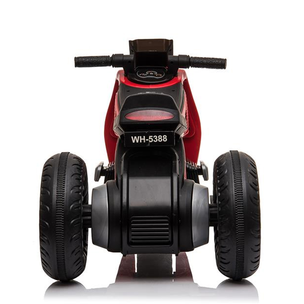 Children's Electric Motorcycle 3 Wheels Double Drive With Music Playback Function - Red