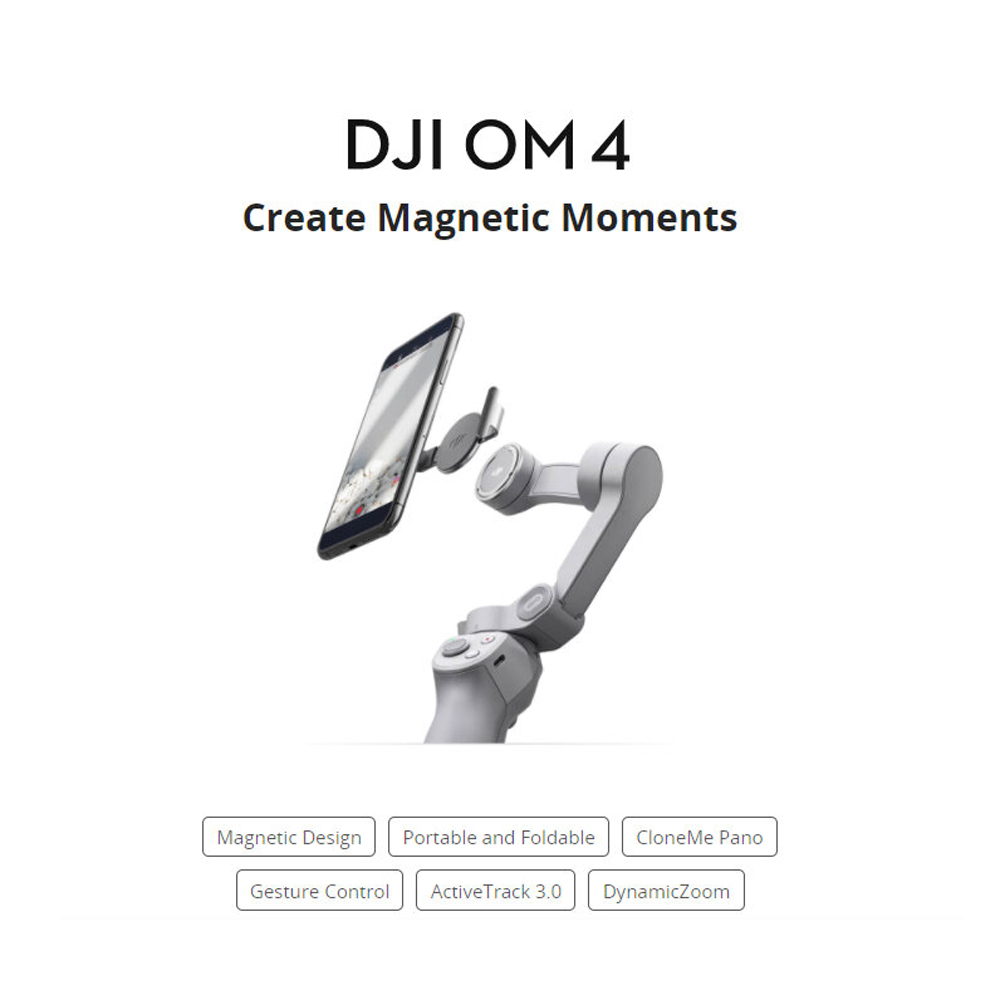 DJI OM 4 Foldable Smartphone 3-Axis Brushless Handheld Gimbal Stabilizer With Gesture Control Magnetic Design
