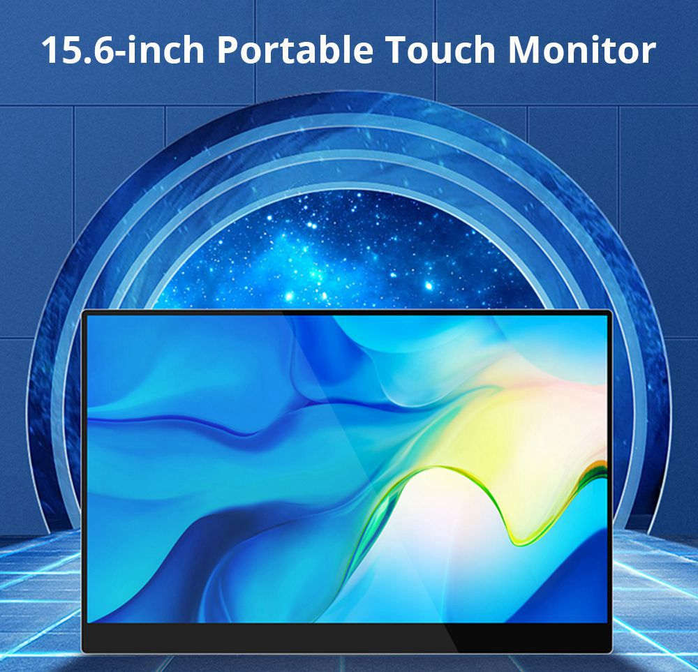 WEICHENSI BM1 Switch Portable Gaming Monitor 15.6 Inch IPS Touch Screen HDR 1920*1080 Full Metal Body Dual Type-C+HDMI USB Gaming Display Screen for Smartphones Digital Cameras Tablets Laptops Game Consoles - Silver