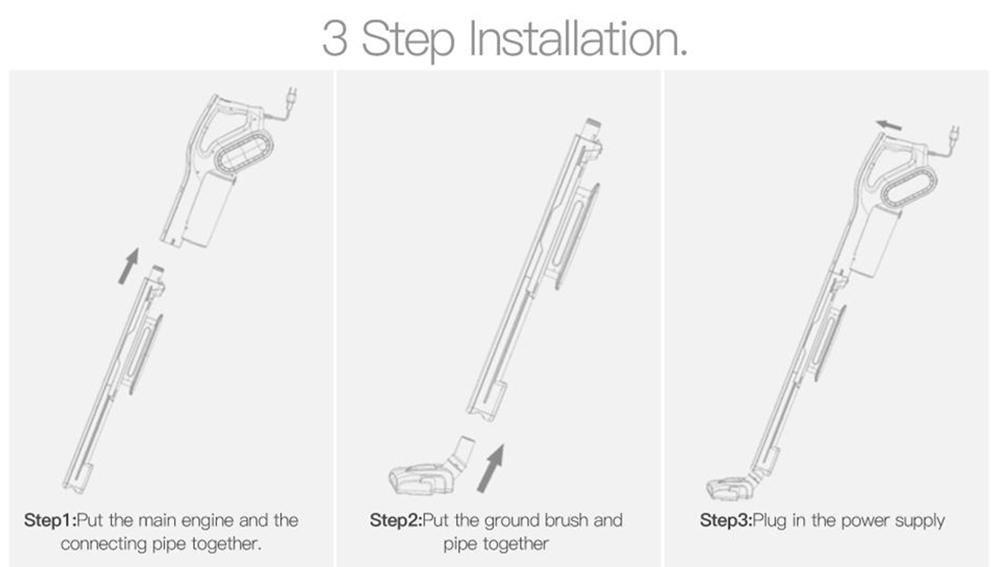 Deerma DX700S Household Upright Vacuum Cleaner 2-in-1 Upright Handheld Cleaner from Xiaomi Ecological Chain - Gray