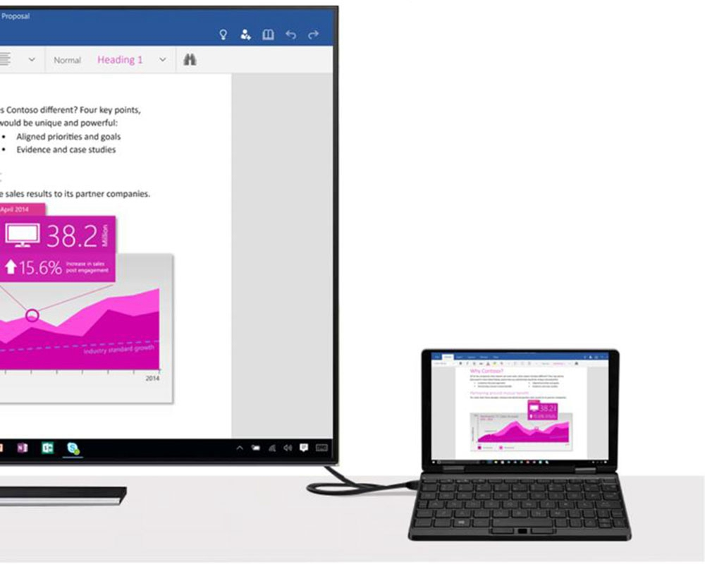 Один нетбук One Mix 3S Yoga Pocket Ноутбук Intel Core M3-8100Y Двухъядерный 8.4-дюймовый IPS-экран 2500 * 1600 Touch ID 8 ГБ DDR3 256 ГБ PCI-E SSD Windows 10 Home - черный