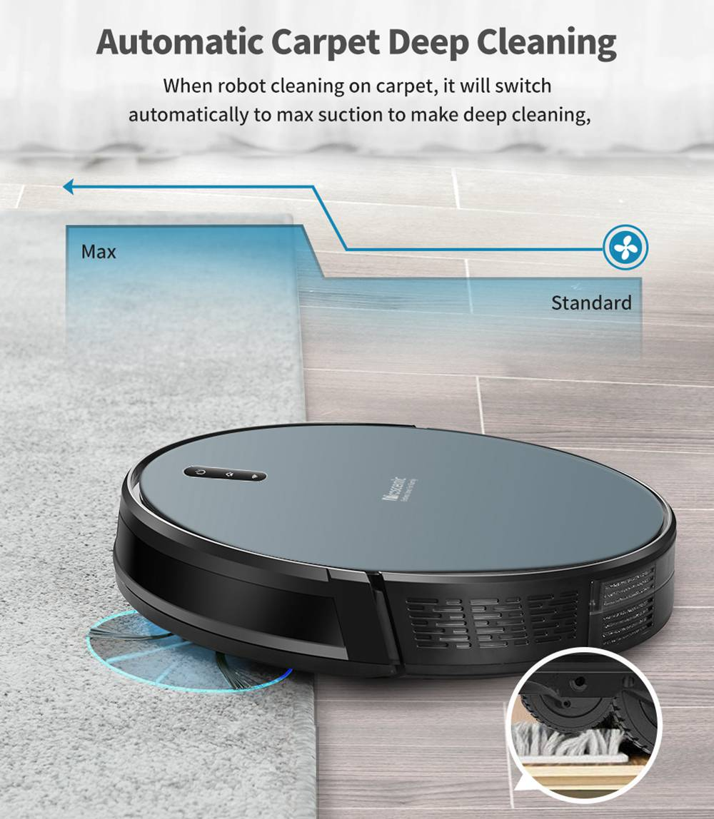 Proscenic WLAN Robot Vacuum Cleaner - 830T Vacuum Cleaner Robot (2 in 1: Robot Vacuum Cleaner with Wiping Function), App