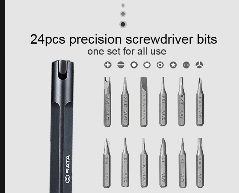 SATA Pen 24 In 1 Screwdriver Kit Magnetic Multi-Bits Household Mobile Phone Repair Toolkit