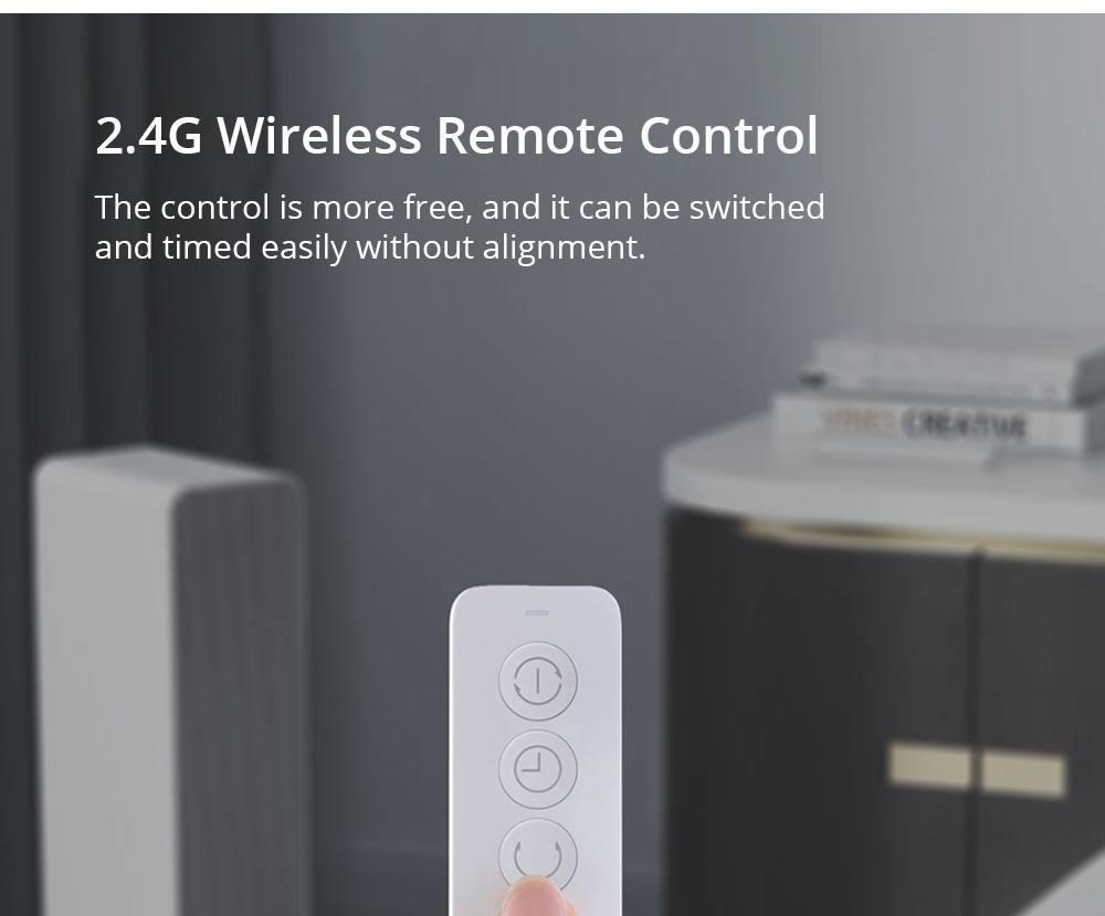 Smartmi 2000W Chauffe-air électrique intelligent PTC Chauffage en céramique Ventilateur de chauffage silencieux efficace 3S Télécommande de chauffage rapide fonctionne avec l'application Mijia de l'écosystème Xiaomi - Blanc