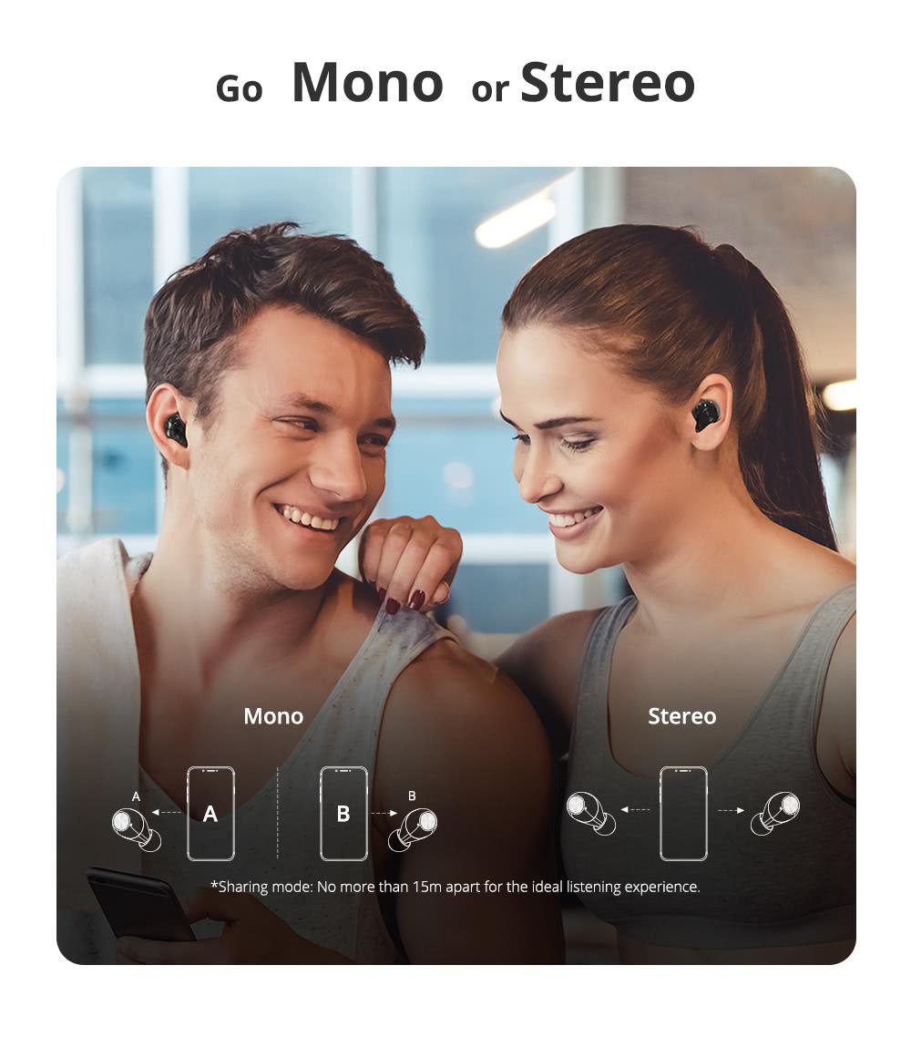 Tronsmart Spunky Beat with APP Control Bluetooth 5.0 TWS CVC 8.0 Earbuds Qualcomm QCC3020 Ανεξάρτητη χρήση aptX / AAC / SBC 24H Playtime Siri Google Assistant IPX5