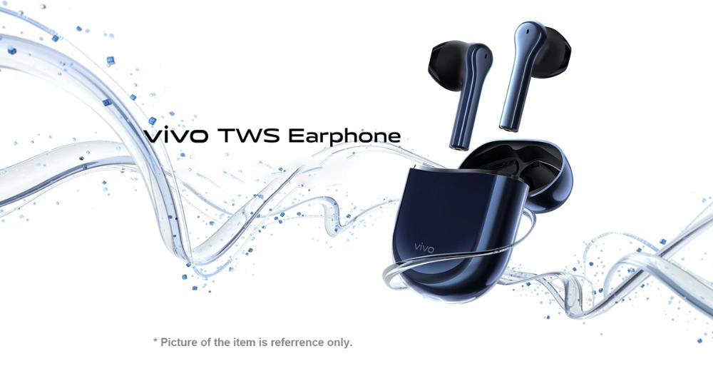 VIVO TWS Earphones Qualcomm QCC5126 aptX AAC Deep Bass CVC Noisce Reduction - Blue
