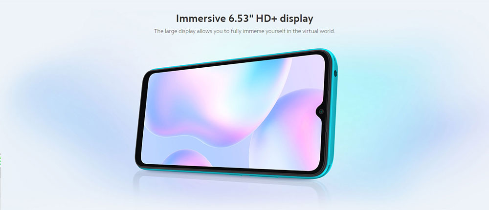 Xiaomi Redmi 9A CN Version 4G LTE Smartphone 6.53 Inch HD+ DotDrop Screen MediaTek Helio G25 4GB RAM 64GB ROM MIUI 12 13MP AI Rear Camera 5000mAh Battery Dual SIM Dual Standby - Green