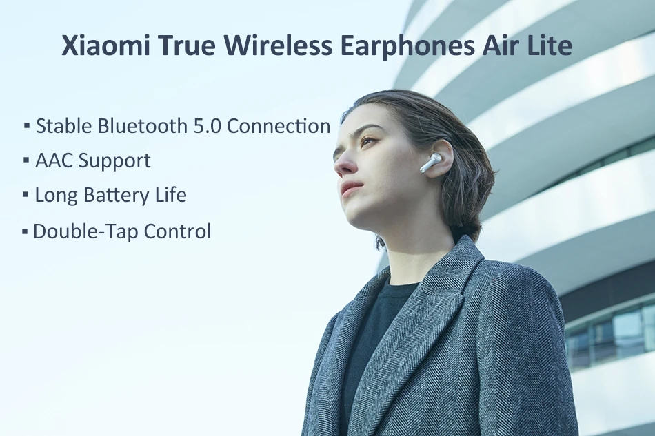[International Edition] Xiaomi Air Lite Earphones TWS Bluetooth 5.0 AAC Touch Control
