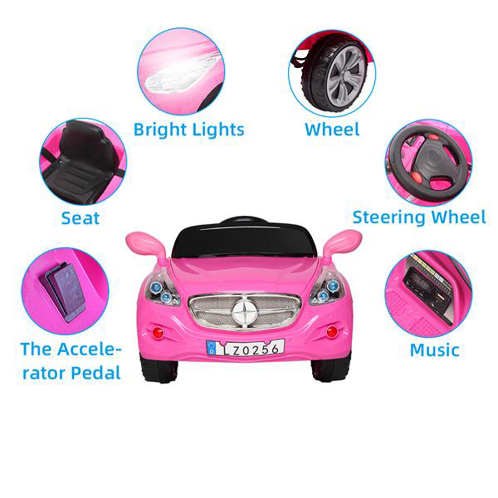 LEADZM LZ-9928 Electric Stroller Double Drive 35W*2 Battery 12V7AH*1 With 2.4G Remote Control - Pink