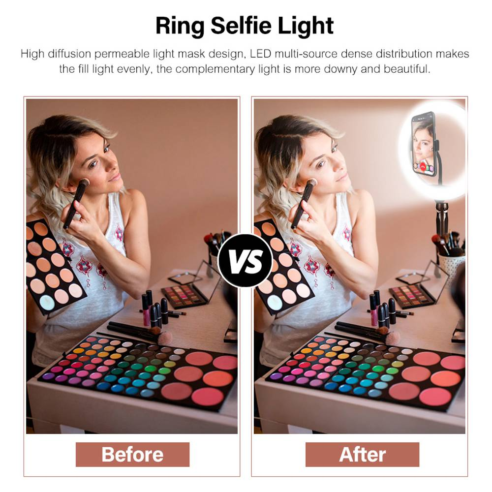 10 inch LED Selfie Ring Light Tripodx LED Ring Light For Phone Youtube Video Camera Studio Make Up Lamp