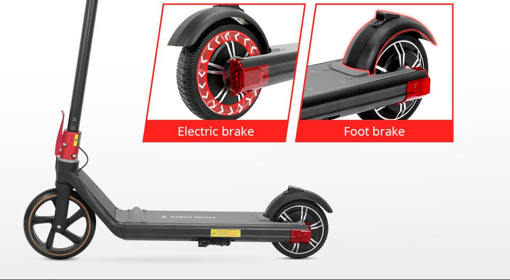 KUGOO KIRIN Mini 2 Folding Electric Scooter for Child 150W Brushless Motor Max 15 km/h 4AH Battery Front 8 Inch Rear 6.5 Inch Solid Tires 10~15km Max Range - Black
