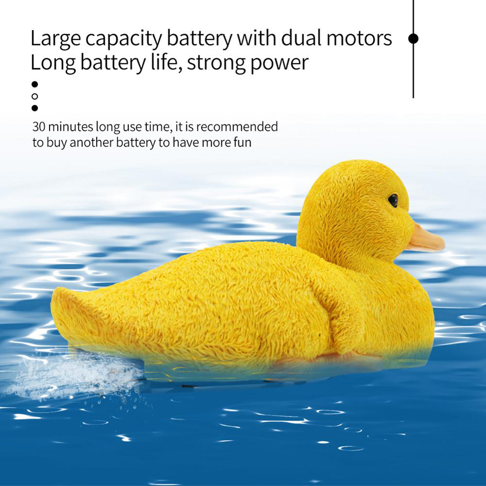 Flytec V203 2.4G 4CH Electric RC Boat Simulation Duck RTR - Yellow