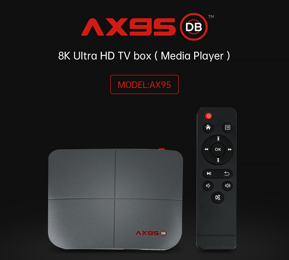A95X DB Android 9.0 S905X3-B 4GB/32GB TV BOX 8K HDR 10+ 2.4G+5G Dual Band WIFI 100M LAN BDMV DOLBY