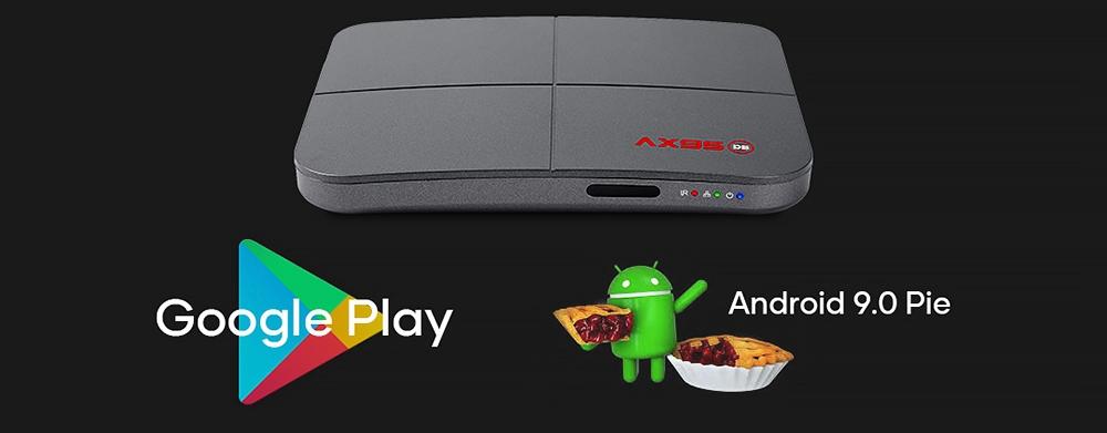 A95X DB Android 9.0 S905X3-B 4GB / 32GB กล่องทีวี 8K HDR 10+ 2.4G + 5G Dual Band WIFI 100M LAN BDMV DOLBY