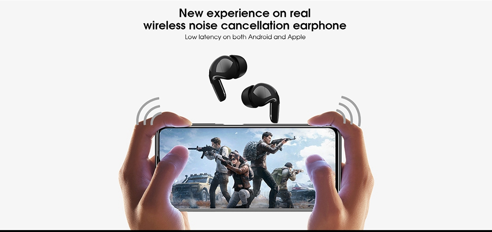Elephone Elepods X TWS Wireless Earbuds Bluetooth 5.0 Earphone ANC Active Noise Canceling with Mic - Black