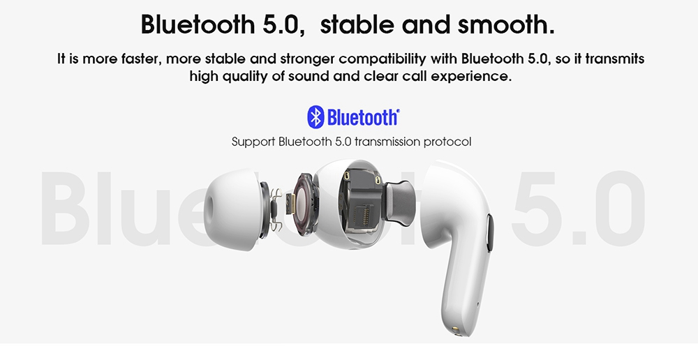 Elephone Elepods X ANC TWS Earbuds Bluetooth 5.0 Active Noise Canceling with Mic - White