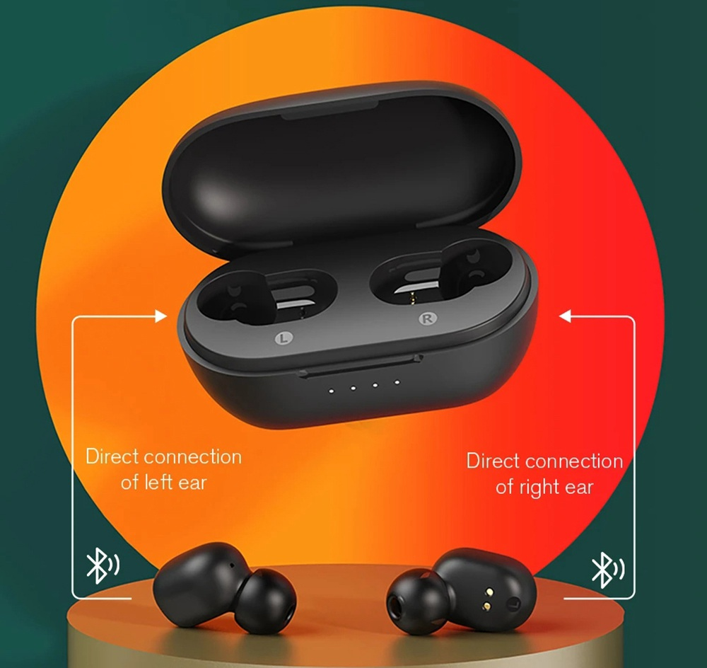 Haylou GT1-XR Bluetooth 5.0 TWS Earbuds Qualcomm QCC3020 aptX 36H Battery Life Touch Control - Black