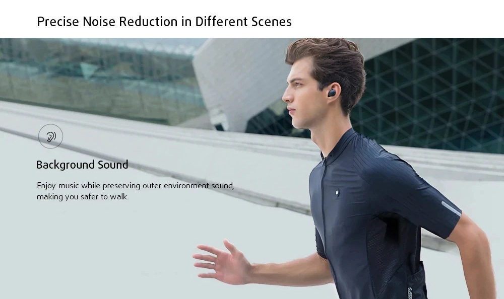 Haylou T16 Bluetooth 5.0 ANC TWS Earbuds 30H Battery Life Independent Use Wireless Charging
