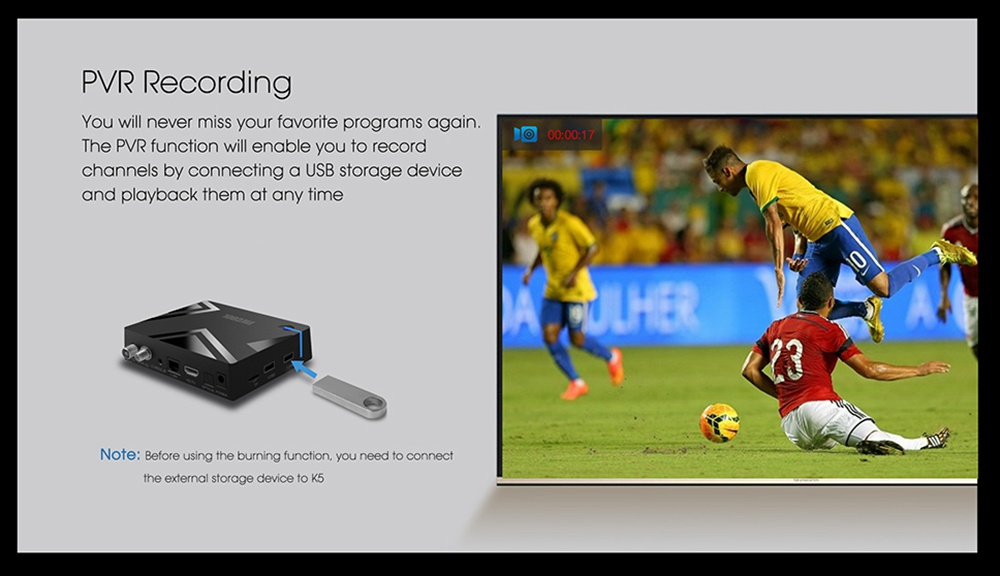 Mecool K5 DVB-T2 DVB-S2 2GB / 16GB Android 9.0 TV Box Amlogic S905X3 CCcam Newcam Biss Key