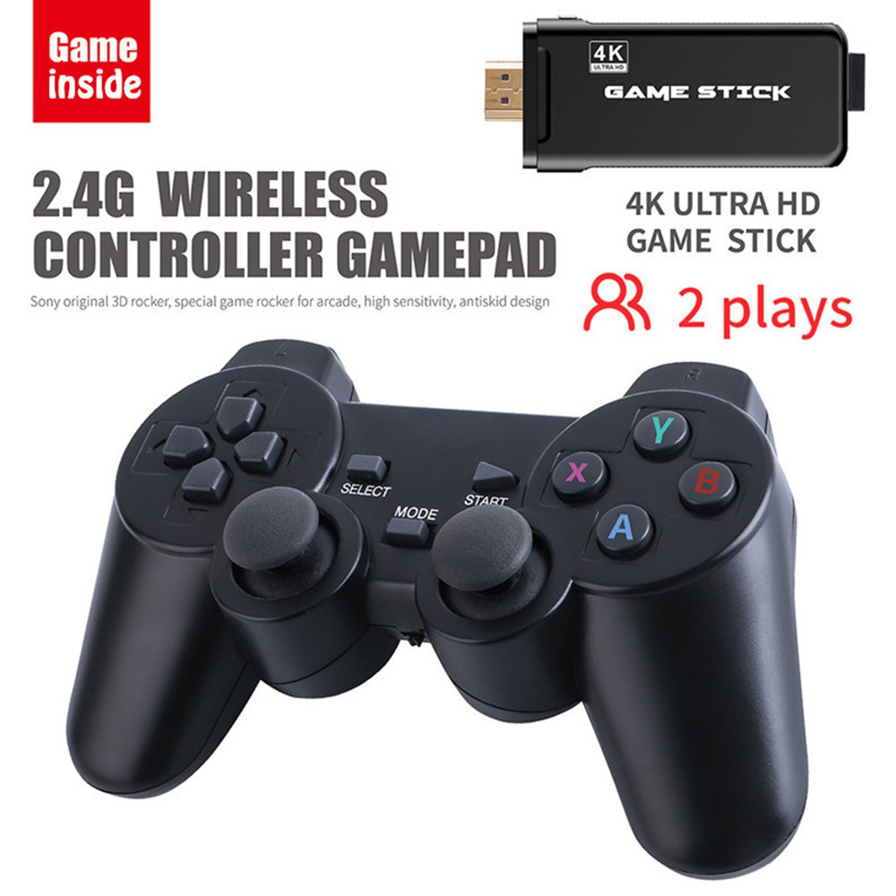 PS3000 32GB 4K Gaming Stick with 2 Wireless Gamepads 3000+ Games Pre-installed