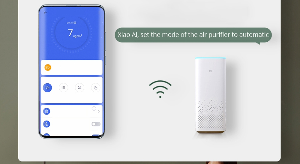 Baomi Air Purifier 2nd Generation Lite Efficient Removal Formaldehyde 99.97% Purification Rate Digital Display APP AI Voice Intelligent Control From Xiaomi Youpin - White