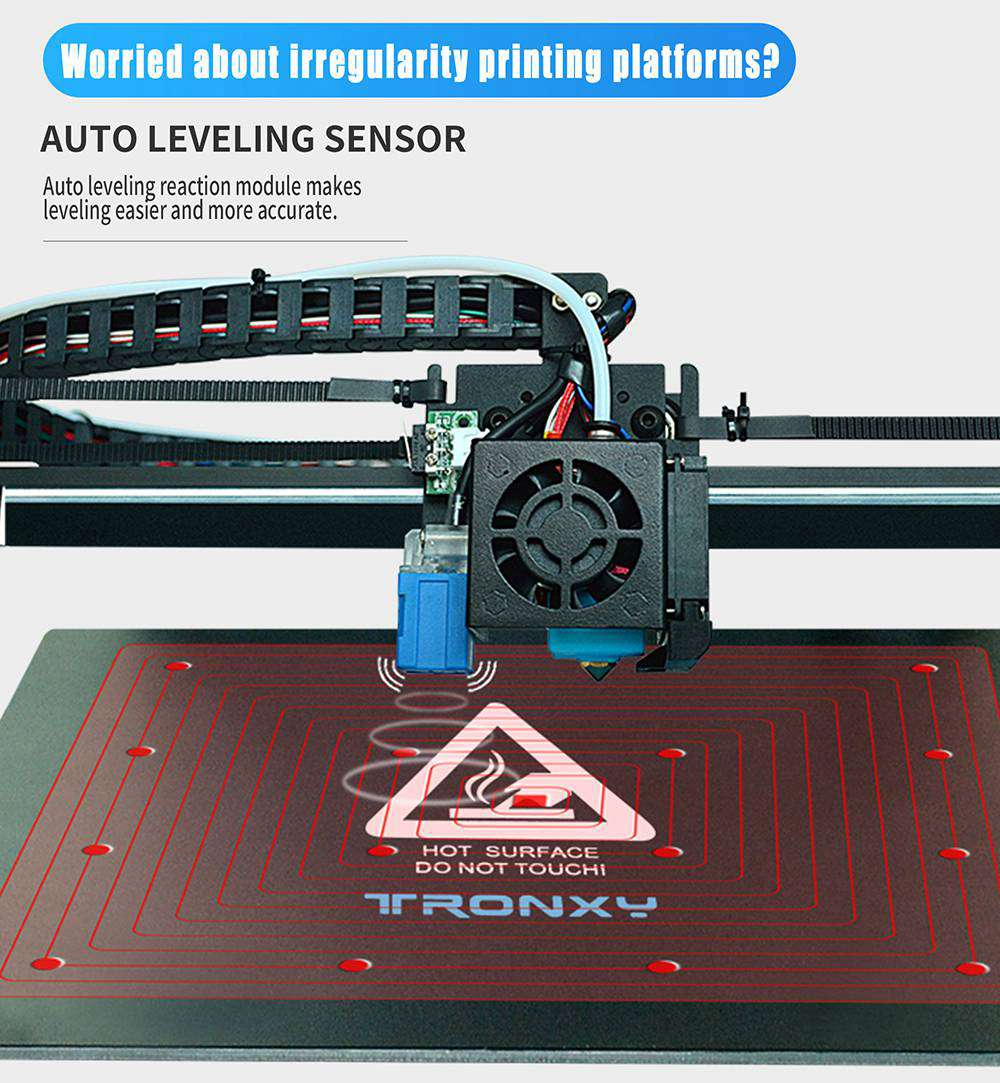 Tronxy 3D X5SA-500 Pro Upgraded FDM 3D Printer 500*500*600mm Linear Guide Titan Extruder CoreXY Ultra Silent Mainboard