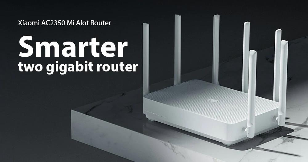 Xiaomi AC2350 Mi Alot Wireless Router 2183Mbps High Gain 7 Antennas 128Mb IPv6 MU-MIMO Dual-Band - White