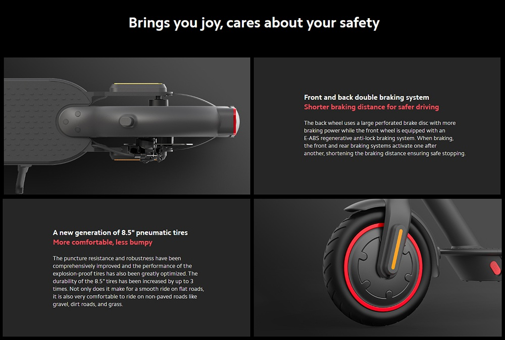 Xiaomi Mi Foldable Electric Scooter Pro 2 Max Speed 25km/h 300W Brushless DC Motor 45km Travel Distance 12800mAh Battery BMS Mijia APP Global Version - Black